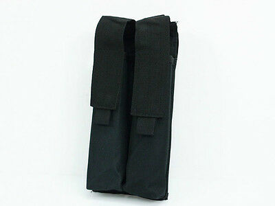 Convertible Black Nylon Airsoft Molle Double P90 UMP Magazine Mag Bag Pouch