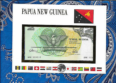 E Banknotes of All Nations Papua New Guinea 1989  2 Kina  P5c UNC sign. 3