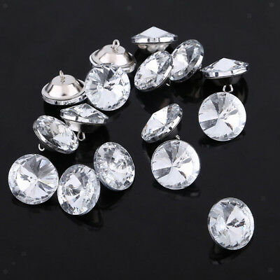50pcs 25mm DIY Crystal Satellite Flower Sofa Headboard Upholstery Buttons