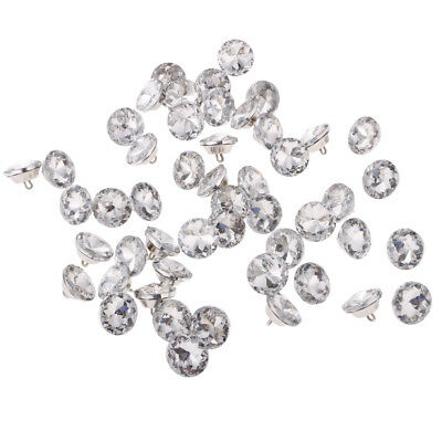50pcs CRYSTAL DIAMOND EFFECT SOFA HEADBOARD UPHOLSTERY SEWING BUTTONS 20mm