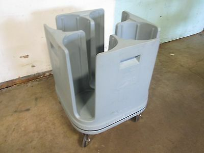 """""""metro Pcd11"""" H.d. Commercial 4 Bays 11"""" Plate Dispenser/carrier Poly Cart/caddy"""