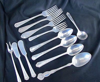 Lot of Miscellaneous Silver plated silverware