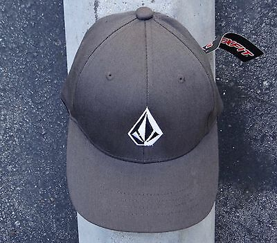 New Volcom Gray (Youth) Flexfit Hat One size Fit HTVLC-14