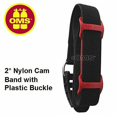 """OMS 2"""" Nylon Cam Band w/Plastic Buckle-36"""" length and OMS Frictian Pad"""