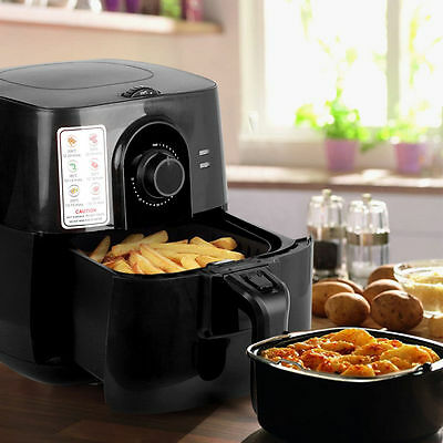 Air Fryer Airfryer Large 3L Electric Food Healthy Cooker Lower Fat Temp Light BK