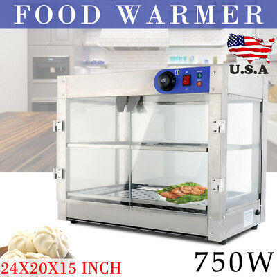 Commercial 24x20x15 inch Pizza Pastry Food Warmer Countertop Display Case