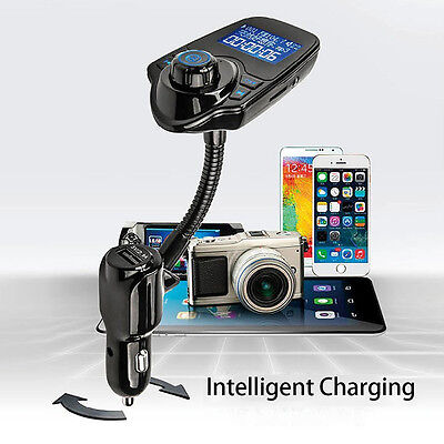 Bluetooth Handfree FM Transmitter Car Charger For iPhone 7 6S Car Speaker System