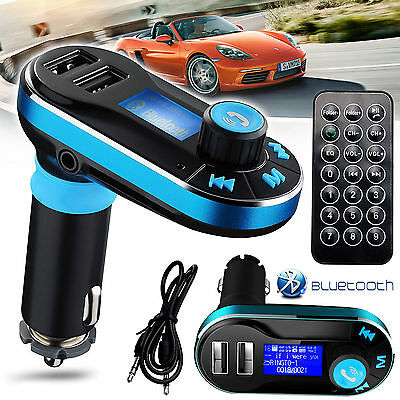 Bluetooth Wireless Dual USB Car Charger FM Transmitter for iPhone 7 6S 5 5S Plus