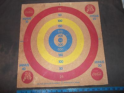 Coca Cola Dart Board Milton Bradley Two Sided Game Vintage Coke Sprite Boy 18X18