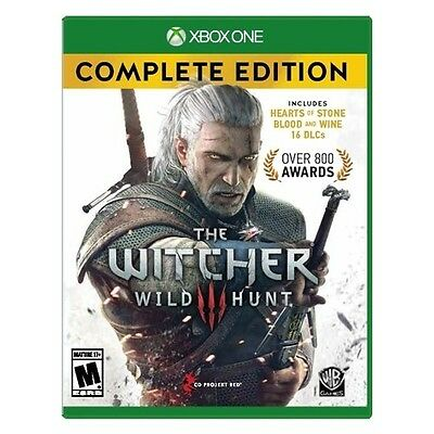 Xbox One Witcher 3: Wild Hunt Complete Edition Brand New Factory Sealed Xbox 1