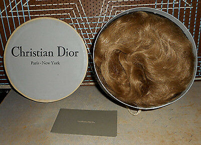 56-Vtg  High Fashion Christian Dior Hat or Wig Storage Box - Yvette Circa 1960