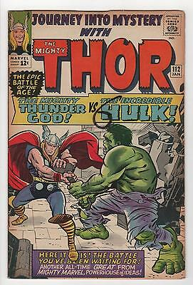 Journey Into Mystery The Mighty Thor No. 112 Fine- (1st Hulk Thor battle)