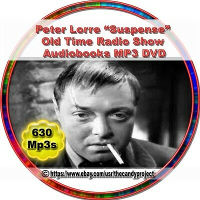 Suspense Peter Lorrie Old Time Radio Shows Agnes Moorehead Thriller Mp3 DVD