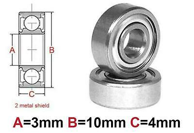 AT Bearing 3x10x4mm MS chrome steel Metal shielded (623zz)