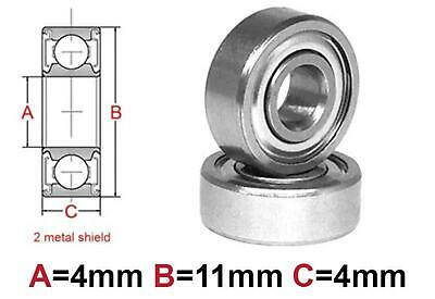 AT Bearing 4x11x4mm MS chrome steel Metal shielded (1pc)