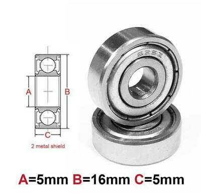 AT Bearing 5x16x5mm MS chrome steel Metal shielded (625zz)