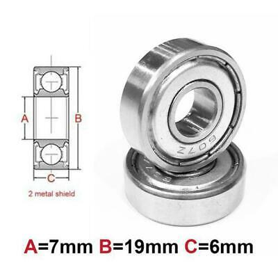 AT Bearing 7x19x6mm MS chrome steel Metal shielded (607zz)