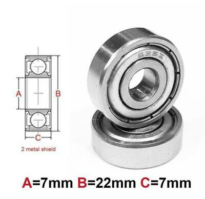 AT Bearing 7x22x7mm MS chrome steel Metal shielded (1pc)