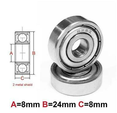 AT Bearing 8x24x8mm MS chrome steel Metal shielded (628zz)