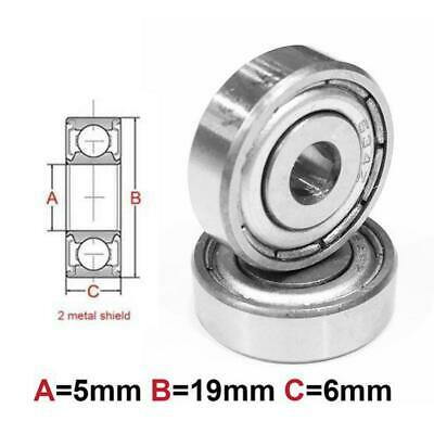 AT Bearing 5x19x6mm MS chrome steel Metal shielded (635zz)
