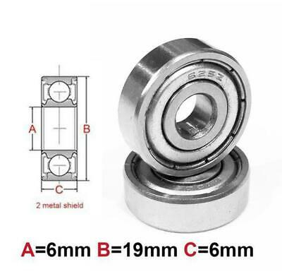 AT Bearing 6x19x6mm MS chrome steel Metal shielded (626zz)