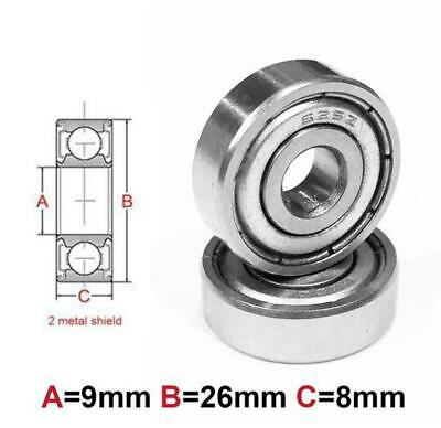 AT Bearing 9x26x8mm MS chrome steel Metal shielded (629zz)