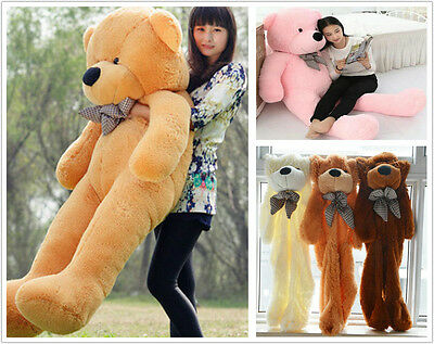 60-200cm Cute Super Semi-finished Plush Teddy Bear Skin(without Cotton) Baby Toy