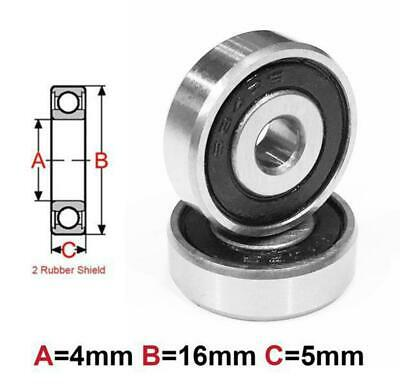AT Bearing 4x16x5mm RS chrome steel rubber shielded (634-2rs)
