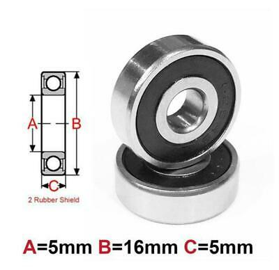 AT Bearing 5x16x5mm RS chrome steel rubber shielded (625-2rs)