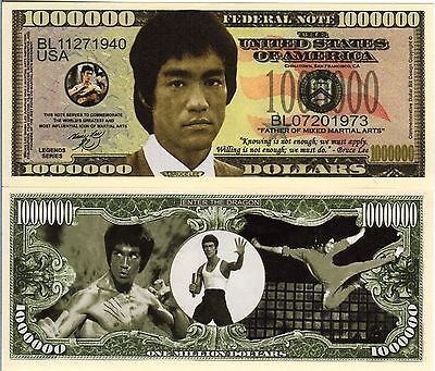 Bruce Lee Million Dollar Novelty Money
