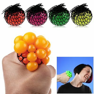 For Adult Child Anti-Stress Squishy Mesh Ball Grape Squeeze Sensory Fruity Toys