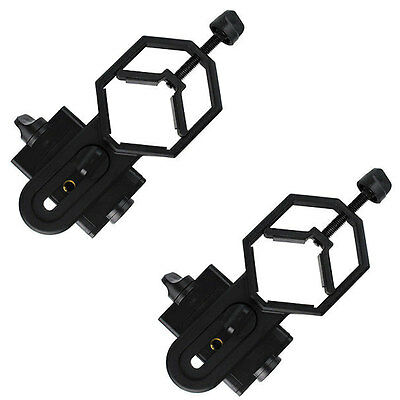 2X New Cell Phone Adapter Mount For Binocular Monocular Spotting Scope US Ship