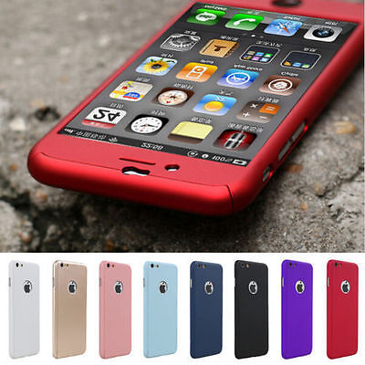 360° Full Hybrid Tempered Glass+Acrylic Hard Case Cover For iPhone 6 & 7 Plus