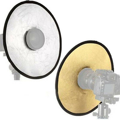 2in1 Photography Photo 12'' Disc Studio Light Multi Collapsible Hollow Reflector