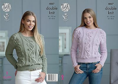 KINGCOLE 4867 Adult DK KNITTING PATTERN 32-42IN -not the finished garments