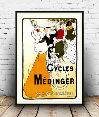 vintage  French Cycle advertising poster reproduction. Cycles Lorette