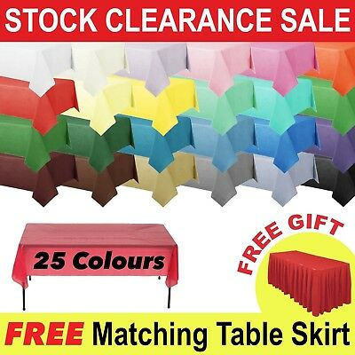 Plastic TABLE COVERS Table Cloth Cover Party Catering Events Tableware Banquet
