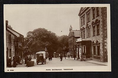 Tredegar - Park Entrance - real photographic postcard