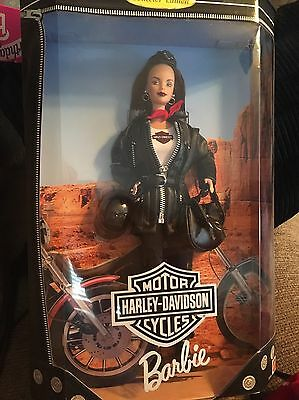 Harley Davidson Barbie Doll #3 1999 Black hair New In Box