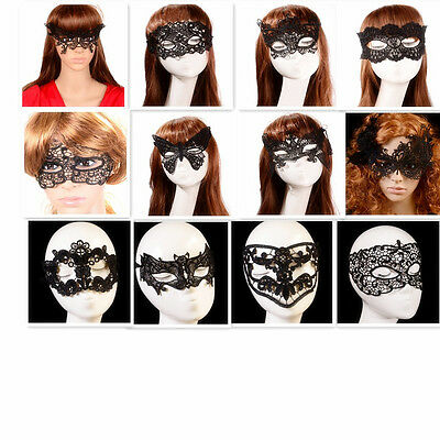 Hot Lace Eye Mask Mysterious Black Stunning Masquerade Ball Fancy Dress Party US