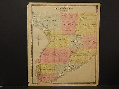 Wisconsin, Crawford County Map,  1902,  J6#20