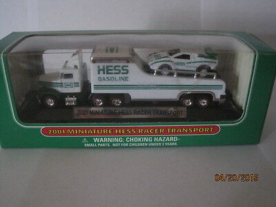 Hess  2001  Racer Transporty  Miniature   2001    In   Box..