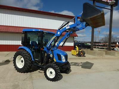 New Holland Boomer 3050 Mfwd Cab Tractor With Loader 924 Hours Cvt Transmission