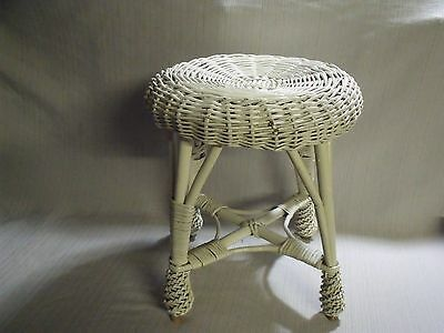Cute Antique Small Victorian Style Wicker Stool