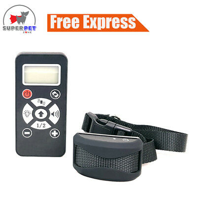 Anti-Bark Stop Barking Dog Training Collar - Rechargeable - Remote & Auto