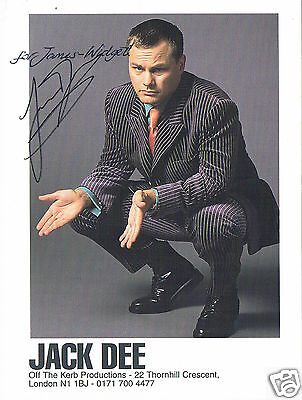 Jack Dee  Comedian and Television Actor Signed Photograph 6 x 4