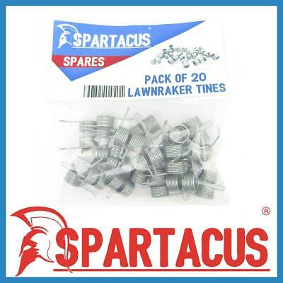 Spartacus 20 x Lawn Raker Tines Tynes To Replace Qualcast F016T47920  Scarifier