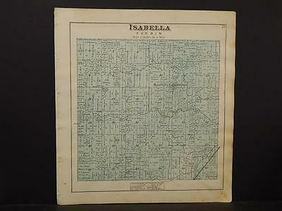 Michigan, Isabelle County Map, Isabella Township  1879 Y5#86