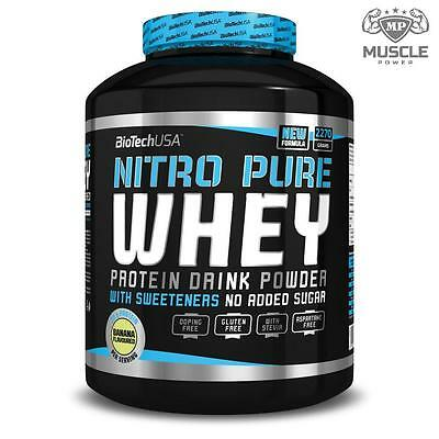 Biotech USA Nitro Pure Whey 2270g Protein Isolate & Concentrate Blend Low Carbs