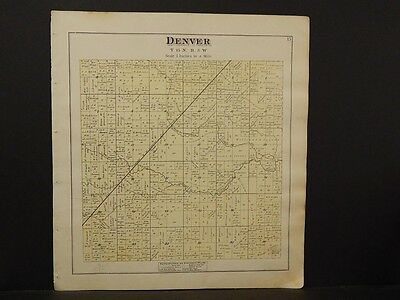 Michigan, Isabelle County Map,Wise Township  1879 Y5#90